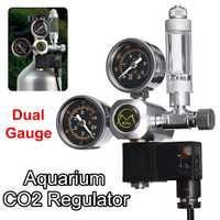 Regulador de acuario CO2 G5/8 220V válvula de retención magnética de solenoide ip65herramienta de tanque de peces de contador de burbujas de acuario impermeable CO2 control