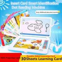 Niños tablet juguetes de aprendizaje conversación en inglés hermosa luz de proyección canciones infantiles Pinyin alfabeto juguetes educativos para