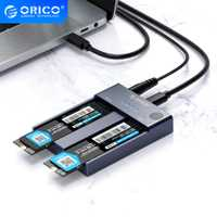 ORICO Double Baie M.2 NVME SSD Boîtier Hors Ligne Clone USB C 3.1 Gen2 10gbps Pour TOUCHE M & M/B CLÉ NVME PCIe SSD Disque dur Lecteur
