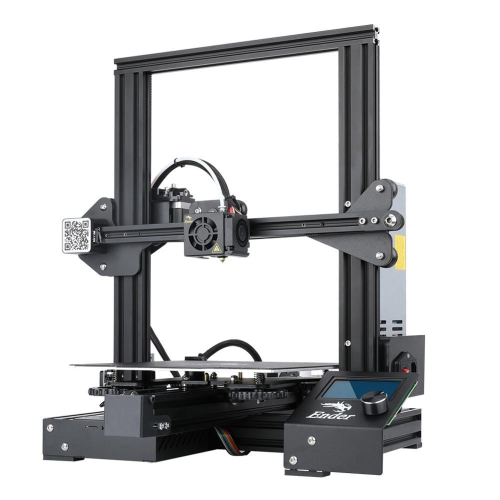 AIV US $239.00 Ender-3 PRo 3D printer DIY Kit Large Size I3 mini ender-3pro printer 3D Continuation Print Power Creality 3D