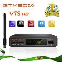 Original Freesat V7S HD GTMEDIA V7S receptor de satélite HD 1080P DVB-S2 HD 1 yearCcam powervu set top caja de freesat V7