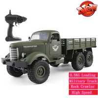 2,4G 1/16 RC camión 4WD RC Off-road oruga Camión Militar coche del ejército 0,5 KG de carga de transporte militar juguete de coche de camión regalos de Modelismo