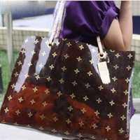 Bolso de hombro de diseñador de lujo con Logo de letra bolso de mano transparente para mujer bolsos de playa transparentes para niñas bolso de compras de verano bolsos de moda