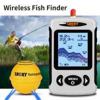 Detector de sonda de pesca con Detector de peces con matriz de puntos Enchufe europeo