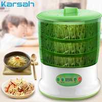 Gran capacidad, Máquina Inteligente de brotes de soja s, termostato doméstico, semillas verdes, máquina de cultivo automático de brotes de soja, enchufe estadounidense