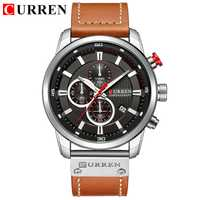 Reloj de cuarzo con fecha de moda CURREN para hombre, relojes de lujo para hombre, cronógrafo, reloj de pulsera para hombre, Hodinky, reloj Masculino