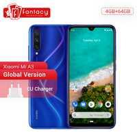 Version mondiale Xiao mi A3 mi A3 mi A3 4GB 64GB téléphone Mobile Snapdragon 665 48MP Triple caméras 32MP caméra frontale 6.088 AMOLED affichage