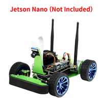 Kit de Robot de course JetRacer AI Acce alimenté par Jetson Nano, apprentissage en profondeur, auto-conduite, suivi de ligne de Vision (pas de Jetson Nano)