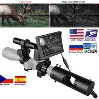 Lunette de Vision nocturne lunettes de chasse optiques vue tactique 850nm LED infrarouge IR étanche dispositif de Vision nocturne caméra de chasse