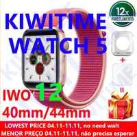 KIWITIME montre 5 IWO 12 Bluetooth montre intelligente 1:1 SmartWatch 40mm 44mm étui pour Apple iOS Android téléphone fréquence cardiaque PK IWO 11