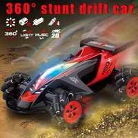 Nuevo 4WD todoterreno RC coche de juguete 1/10 neumático de truco Drift 360 grados de giro de carreras vehículo para niños cumpleaños regalo de Navidad