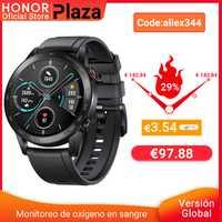 - 3,54€ Code: aliex344 Version mondiale Honor Magic Watch 2 montre intelligente Bluetooth 5.1 Smartwatch oxygène du sang 14 jours étanche MagicWatch 2