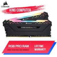 CORSAIR ddr4 pc4 ram 8GB 3000MHz RGB PRO memoria de escritorio DIMM placa base de soporte 8g 16G 3000Mhz 3200mhz 3600mhz 16gb 32gb de ram