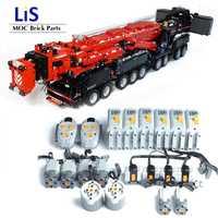 ¡Novedad! ¡Nuevo! Grúa móvil de alta potencia LTM11200 RC Liebherrr, Kits de Motor técnico, bloques de ladrillos, regalo de cumpleaños para niños