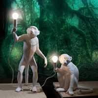Moderne pendentif lumières or résine singe lampe salon Restaurant chambre lustre cuisine lampe enfants chambre suspension lampe Luminaire