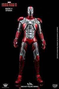 Rey artes 1:9 fundición DFS024 Iron Man 3 MK5 Mark 5 figura de acción modelo de juguete