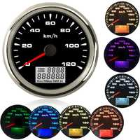 85mm barco velocímetro gps coche Marina barca gps velocidad Odometers pantalla LCD de 9 ~ 32V con 7 colores de fondo para BMW e60 e46