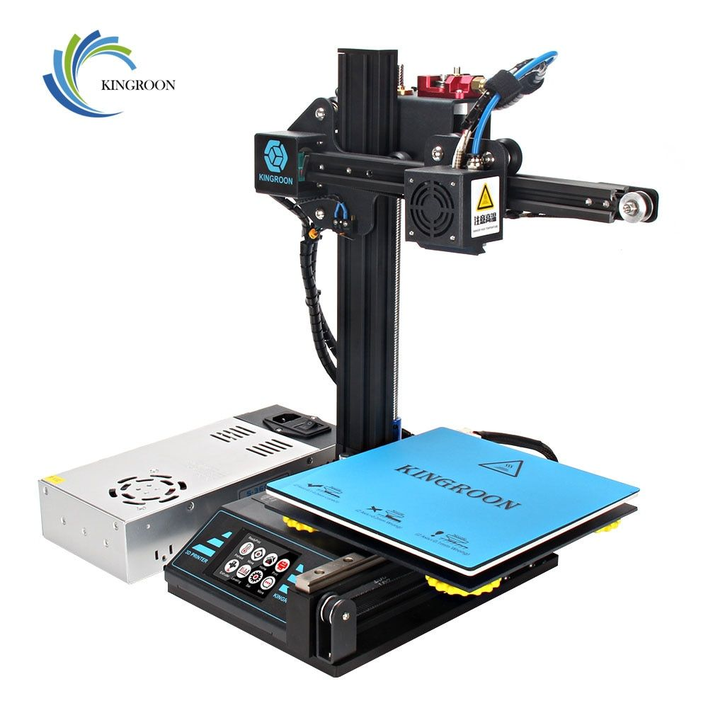 RIB US $153.70 KingRoon DIY 3D Printer KP3 Upgraded High precision 3D принтер 180*180*180mm Rigid Metal Frame Drukarka 3D Touch LCD Screen Hot
