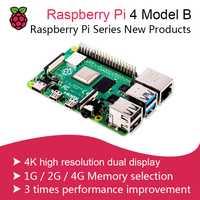 Nouveau 2019 Officiel Original Framboise Pi 4 Modèle B Développement Kit RAM 1G/2G/4G 4 Core 1.5Ghz 3 Speeder Que Pi 3B +