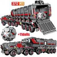 Bloques de construcción de automóviles, camión de bloques de construcción de vehículos, camión de bloques de transporte, camión de bloques, camión de carga militar Technic T141
