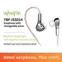 URBANFUN YBF-ISS014 ecouteurs casques 3.5mm dans l'oreille filaire Earphon e pour Smartphones sans microphone