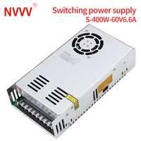 NVVV alimentation à découpage s-400w-60v6.6a tension réglable, adapté à RD6006 (alimentation cc 12V24V ca)