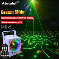 Atotalof rvb éclairage de scène 60 modèles projecteur Laser son activé boule Disco effet d'éclairage de fête pour noël KTV mariage