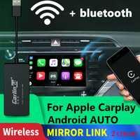 Carlinkit Carplay A3 inalámbrico para Apple Carplay Adaptador Android Auto Dongle coche jugar Iphone coche USB WIFI GPS MIMI espejo enlace