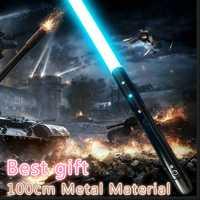 Nouveau 1 pièces Cosplay sabre laser avec son léger sabre alliage Skywalker épée 100 Cm jouet cadeau garçon cadeau d'anniversaire jouets de noël