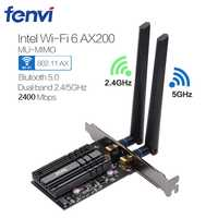Ordinateur de bureau sans fil pour Intel Wi-Fi 6 AX200 Bluetooth 5.0 double bande 2400Mbps adaptateur PCI Express Wifi AX200NGW 802.11ax Windows 10