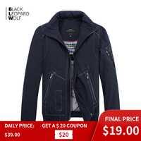 Blackleopardwolf 2019 nouveauté printemps manteau hommes haute qualité casual parkas style court doudoune mince coton MC-17065