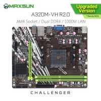 Carte mère d'origine MAXSUN Challenger A320M-VH R2.0 AMD AM4 mATX double canal DDR4 1000M LAN SATA3.0 USB3.1 VGA HDMI