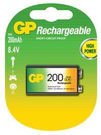 Batería GP 20R8H-2CRU1: CR-9V (6F22) (cantidad en el paquete. 1 uds)