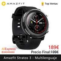 Xiao mi Hua mi Amazfit Stratos 3 montre intelligente (montre intelligente bluetooth GPS sport android IOS mi montre) [Version mondiale]