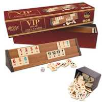 -Livraison rapide-V.I.P Okey Rummy 4 joueurs jeu de société en bois 4x ponts et qualité 106x jeu de puces compétence équipe adulte partie jeu d'équipe