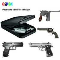 Caja de Seguridad portátil OSPON pistola de dinero caja de seguridad digital pequeña caja de seguridad de acero laminado en frío caja de seguridad para coches caja de almacenamiento de joyas de dinero
