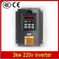 220 v Unidad de Frecuencia Variable Inversor VFD 3.0kw/VFD 750WATT 1HP o 3HP Entrada Salida 3HP CNC Controlador CNC motor Del Huso de control de Velocidad