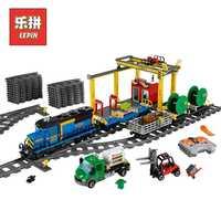 Educativos de la RC tren de carga 02008 02009 Compatible 02039 Legoinglys bloques de construcción 60052 tren técnica juguetes para los niños