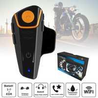 BT-S2 Pro del intercomunicador del casco de la motocicleta moto auricular bluetooth inalámbrico impermeable BT Interphone con Radio FM + auricular UE Plu