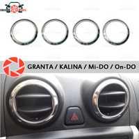 Pour Lada Granta/Kalina bouchon chromé sur déflecteurs d'air acier inoxydable moulage intérieur aspect voiture style décoration