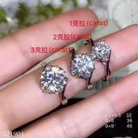 KJJEAXCMY joyería de boutique de Plata de Ley 925 con incrustaciones de diamante Mosang anillo femenino se refiere a una prueba de retención de 1 quilate con certificado