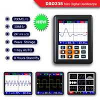 O120 DSO338 NANO PRO 30 MHz 200MSa/s Mini portátil de bolsillo de mano IPS LCD osciloscopio Digital