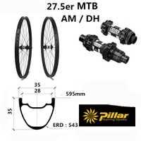 35*35 Taiwán llantas 27.5er MTB carbono ruedas de bicicleta de montaña ruedas para 35mm de ancho montaña bicicleta de ruedas