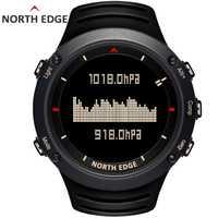 En el borde norte de los hombres deporte Digital Reloj horas corriendo natación deportes relojes altímetro barómetro brújula termómetro clima hombres