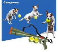 CARRYWON mascotas pelota lanzador juguete entrenamiento al aire libre perro juguetes ABS plástico Pet Supplies perro interactivo bola aplicable a todos los perros