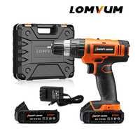 ¡LOMVUM 20 V recargable eléctrica de Multi-función de pared de hormigón Taladro Inalámbrico con la batería de litio de instrumentos Mini!
