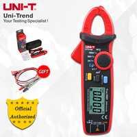 UNI-T UT210E/UT210D Mini Digital Clamp metros; verdadera RMS100A-200A amperímetro, V. f. c. /NCV prueba de temperatura, retroiluminación LCD