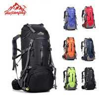 Impermeable de viajes de senderismo bolsa de deporte para los hombres y las mujeres al aire libre Camping escalada en roca corriendo bolsa de montaña mochila 50L