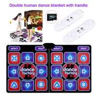 Coussinets de danse humaine Double libération ordinateur TV amincissant danseur couverture tapis avec deux poignées