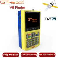 GTMEDIA/Freesat V8 de HD DVB-S2 Digital buscador de satélite de alta definición de 1080 P buscador satelital DVB S2 satélite Metro satfinder